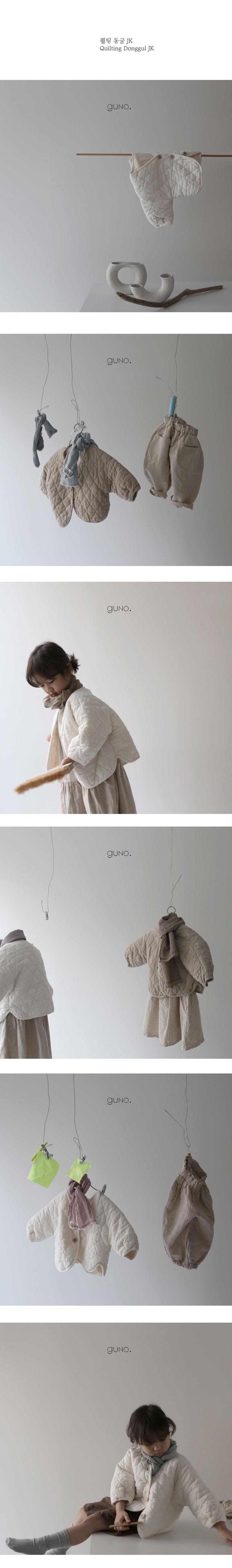 GUNO - Korean Children Fashion - #Kfashion4kids - Quilting Round Jacket