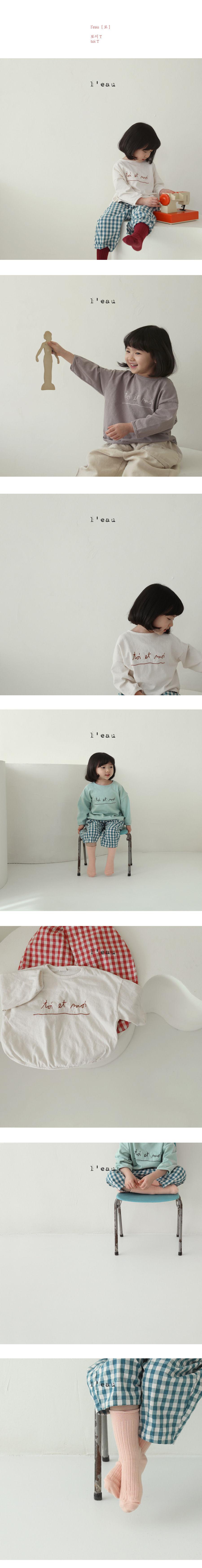 L'EAU - Korean Children Fashion - #Kfashion4kids - Toi Tee