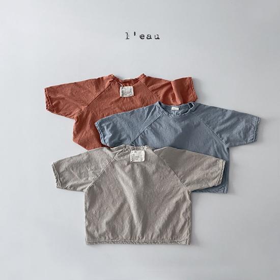 L'EAU - Korean Children Fashion - #Kfashion4kids - Label Simple Tee