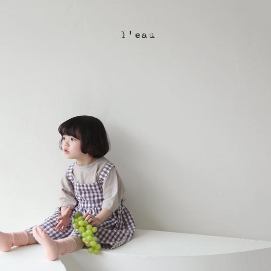 L'EAU - Korean Children Fashion - #Kfashion4kids - Label Simple Tee - 10