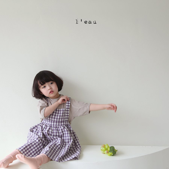 L'EAU - Korean Children Fashion - #Kfashion4kids - Label Simple Tee - 12