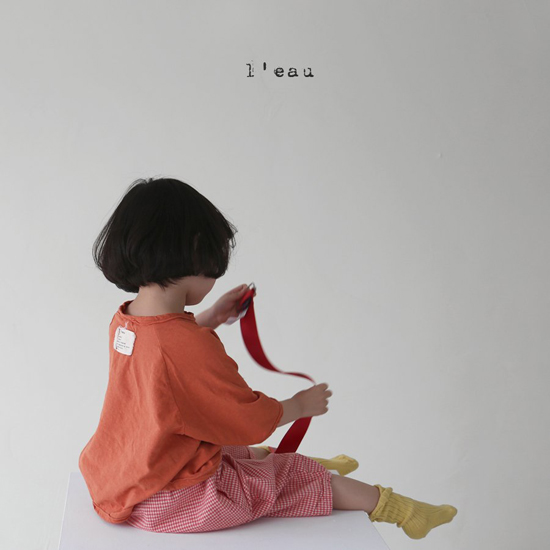 L'EAU - Korean Children Fashion - #Kfashion4kids - Label Simple Tee - 2