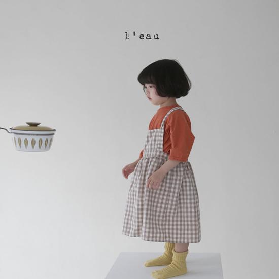 L'EAU - Korean Children Fashion - #Kfashion4kids - Label Simple Tee - 3