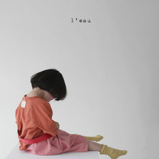 L'EAU - Korean Children Fashion - #Kfashion4kids - Label Simple Tee - 4