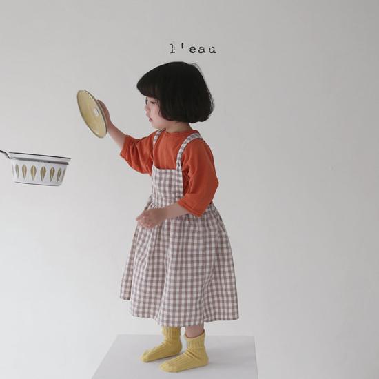 L'EAU - Korean Children Fashion - #Kfashion4kids - Label Simple Tee - 5