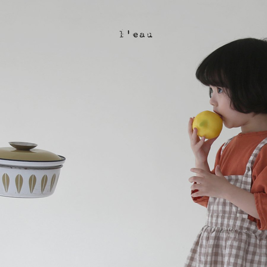 L'EAU - Korean Children Fashion - #Kfashion4kids - Label Simple Tee - 6