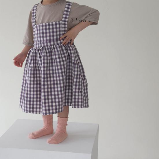 L'EAU - Korean Children Fashion - #Kfashion4kids - Label Simple Tee - 8