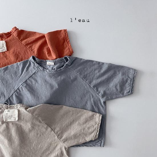 L'EAU - Korean Children Fashion - #Kfashion4kids - Label Simple Tee - 9