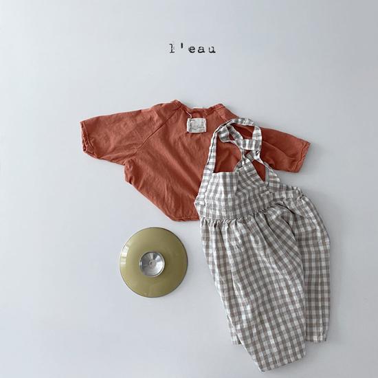 L'EAU - Korean Children Fashion - #Kfashion4kids - Check String One-piece - 2