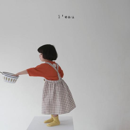 L'EAU - Korean Children Fashion - #Kfashion4kids - Check String One-piece - 3