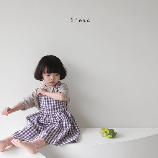 L'EAU - Korean Children Fashion - #Kfashion4kids - Check String One-piece - 4
