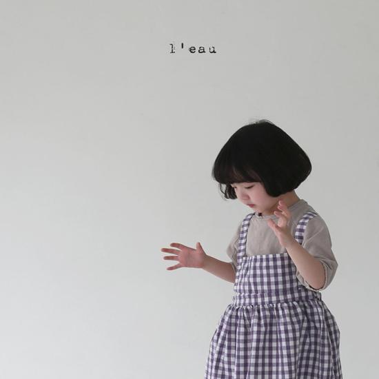L'EAU - Korean Children Fashion - #Kfashion4kids - Check String One-piece - 6