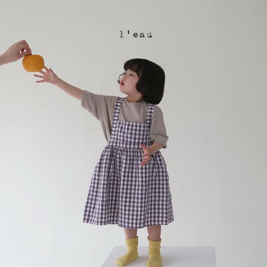 L'EAU - Korean Children Fashion - #Kfashion4kids - Check String One-piece - 7