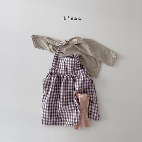 L'EAU - Korean Children Fashion - #Kfashion4kids - Check String One-piece - 8