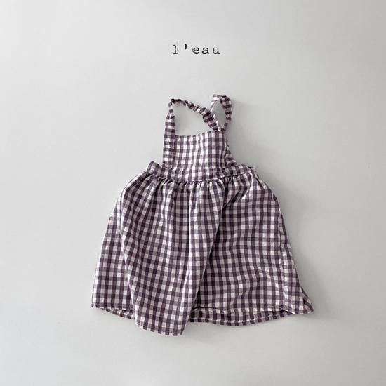L'EAU - Korean Children Fashion - #Kfashion4kids - Check String One-piece - 9