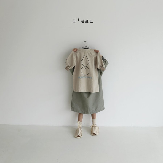 L'EAU - Korean Children Fashion - #Kfashion4kids - Shape One-piece - 2