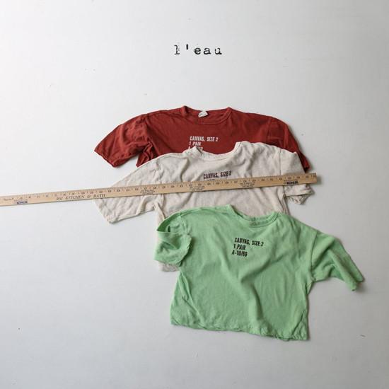 L'EAU - Korean Children Fashion - #Kfashion4kids - Round Tee